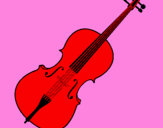 Coloring page Violin painted bytiti12345678