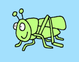 Coloring page Grasshopper 2 painted bynicoe