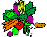 Coloring page vegetables painted byIsmail