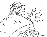 Coloring page Monster under the bed painted byMalia