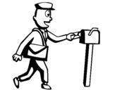 Coloring page Postman painted bypostman