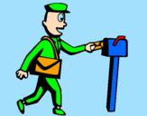 Coloring page Postman painted bysandu