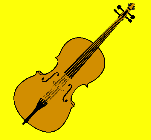 Coloring page Violin painted byleticr2