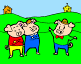 Coloring page Three little pigs 5 painted byEls porcets
