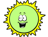 Coloring page Sun painted by1000000