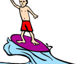 Coloring page Surf painted byraul