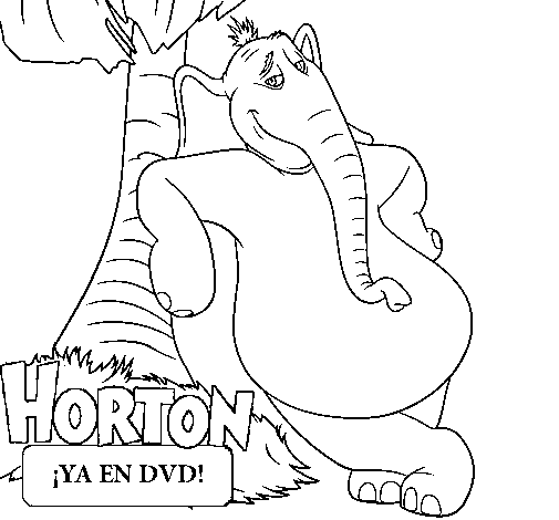 Paint and color drawings of Dr Seuss Horton hears a Who by the