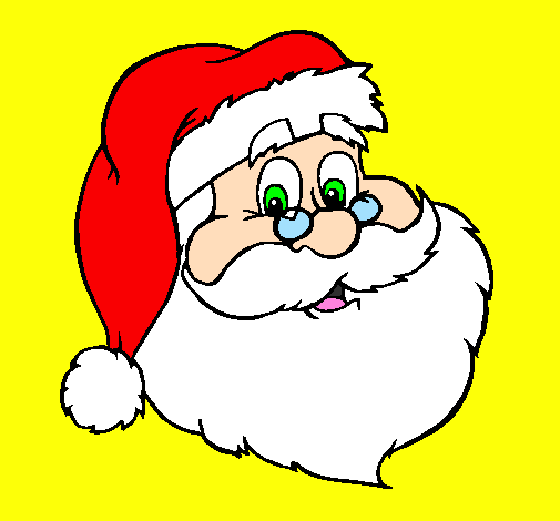 Colored page santa face painted by javialonso