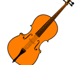 Coloring page Violin painted byDusha