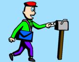 Coloring page Postman painted byaurora