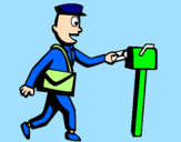 Coloring page Postman painted byleticr2