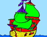 Coloring page Ship painted bywendreu