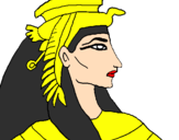Coloring page Pharaoh painted bydame