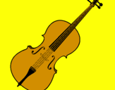 Coloring page Violin painted byMilica