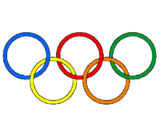 Coloring page Olympic rings painted bypedro