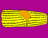Coloring page Corncob painted byMilica