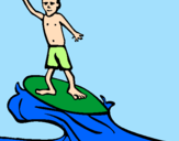 Coloring page Surf painted byFRAJOLA