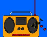 Coloring page Radio cassette 2 painted bylucas