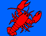 Coloring page Lobster painted byL DRAGOA