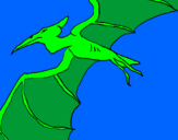 Coloring page Pterodactyl II painted byrex