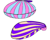 Coloring page Clams painted byheloisa