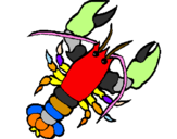 Coloring page Lobster painted byAdriano