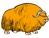Coloring page Bison painted bylucas