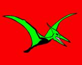 Coloring page Pterodactyl painted byrodrigo
