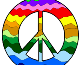 Coloring page Peace symbol painted byphelipe