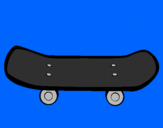Coloring page Skateboard II painted byDRAGEN
