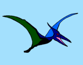 Coloring page Pterodactyl painted bycamila