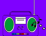 Coloring page Radio cassette 2 painted byalana         46781314