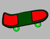 Coloring page Skateboard painted bypati