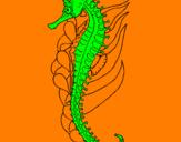 Coloring page Oriental sea horse painted byroberto