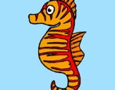 Coloring page Sea horse painted byjanelle
