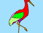 Coloring page Stork  painted byguenda