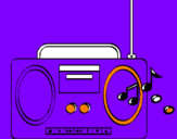 Coloring page Radio cassette 2 painted bybryan