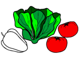Coloring page Vegetables painted byErin