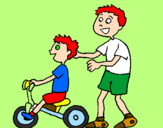 Coloring page Tricycle painted bybreno