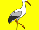 Coloring page Stork  painted byLuis Mario Aguayo