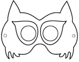 Coloring page Raccoon mask painted byheidi