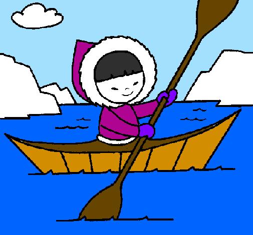 Eskimo canoe