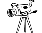 Coloring page Movie camera painted bymilo
