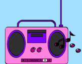 Coloring page Radio cassette 2 painted byjuliana
