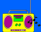 Coloring page Radio cassette 2 painted by imam li drugove