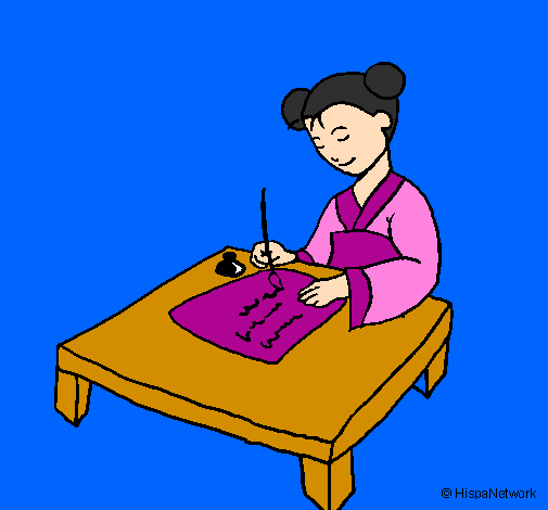chinese caligraphy coloring pages - photo#35