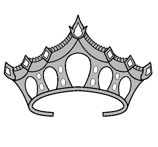 Colored Page Tiara Painted By Tiat