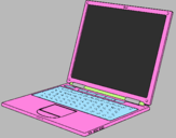 Coloring page Laptop painted byLuciana