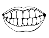 Coloring page Mouth and teeth painted bystephanie