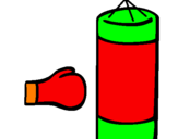 Coloring page Punching bag painted byspencer